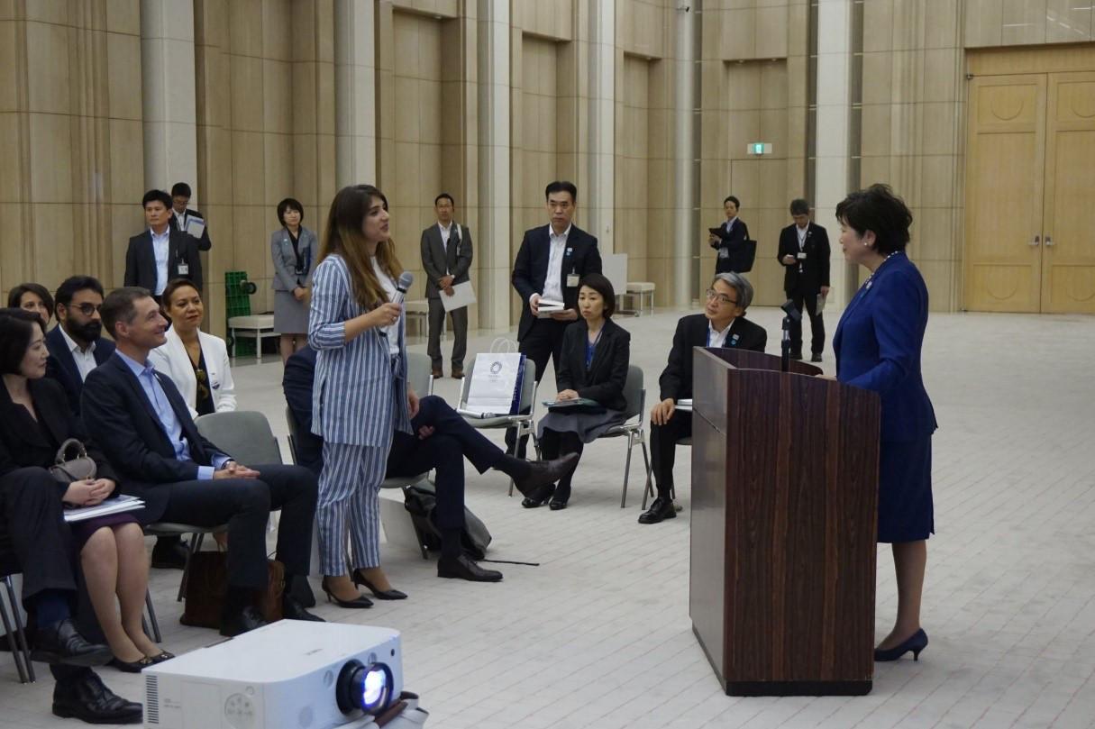 La délégation française reçue par les autorités japonaises