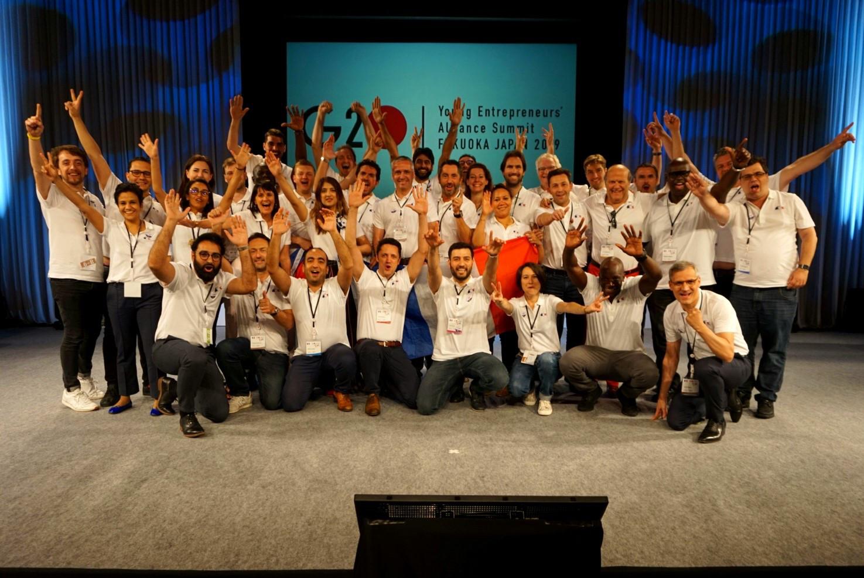 Le groupe de l'équipe de France au G20 Jeunes Entrepreneurs