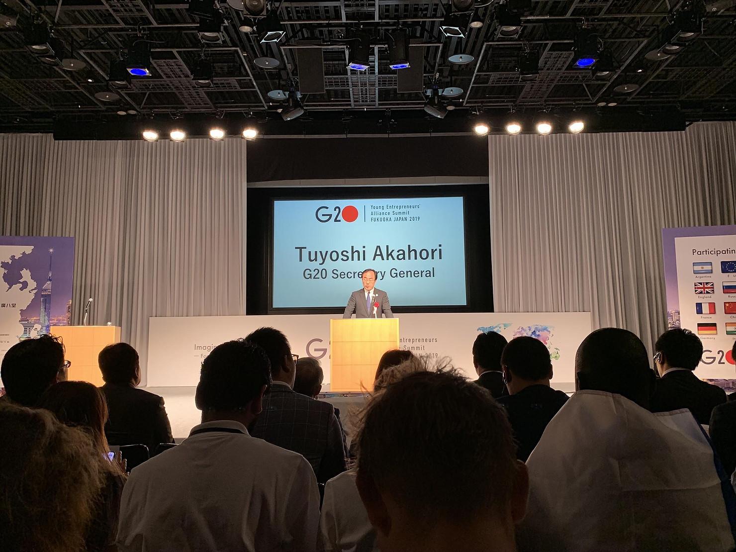 Ouverture du G20 YEA par M. Tuyoshi Akahori, Secrétaire Général du Japon